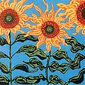 Three Sunflowers IIi by Genevieve Esson