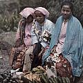 Three Women Traders Sit by W. Robert Moore
