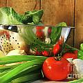 Veggies On The Counter by Sandra Cunningham