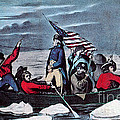 Washington Crossing The Delaware, 1776 by Photo Researchers