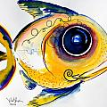 Yellow Study Fish by J Vincent Scarpace