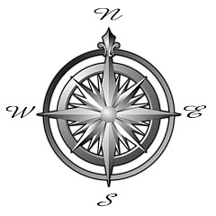 Compass Rose Maps Artwork For Sale Colbert WA United States - Us map w compas