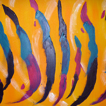Abstract or op art acrylics on canvas Collection