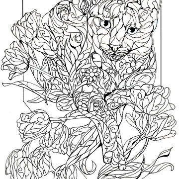 Sherry shipley artwork collections for Fine art coloring pages