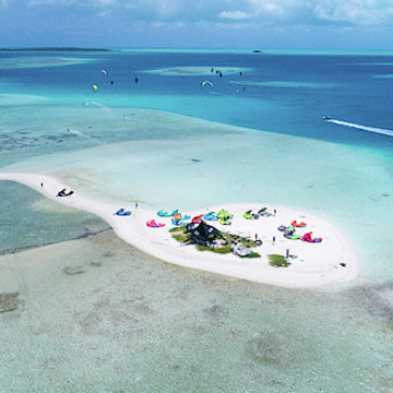 Aerial View Los Roques Venezuela by orgbluewater Collection