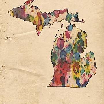 American States Watercolor Maps Collection