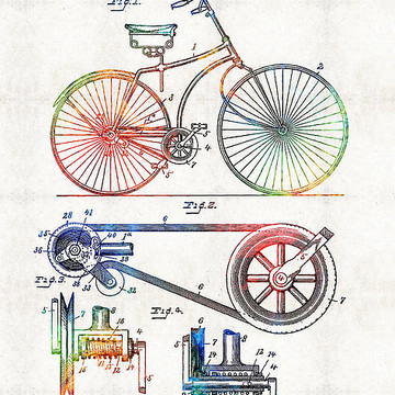 Colorful Patent Art Collection