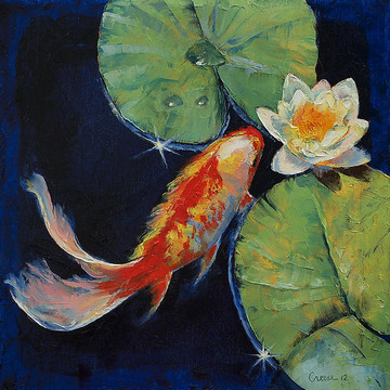 Michael creese artwork collections for Japanese koi fish wholesale