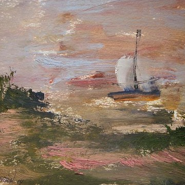 Seascape Sailboats In Oil- Natural Light Collection
