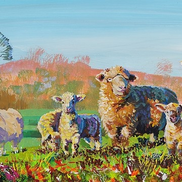 Sheep Paintings Collection