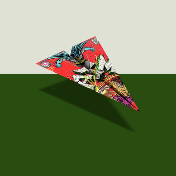 640a817a3d8d Superheroes · CRACKED · MAD Singles · Digital Art - Day Of The Tomahawk Comic  Book Page Paper Airplane by YoPedro