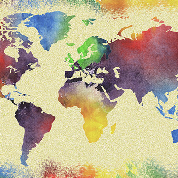 World Maps Watercolors Collection