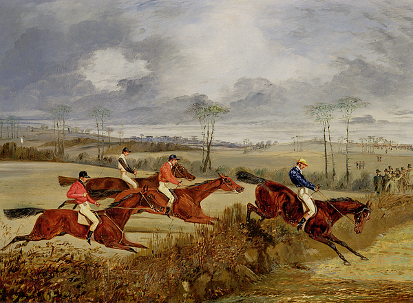 Steeplechase Painting -  A Steeplechase - Near The Finish by Henry Thomas Alken