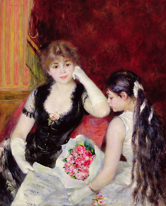 Concert Painting -  At The Concert by Pierre Auguste Renoir
