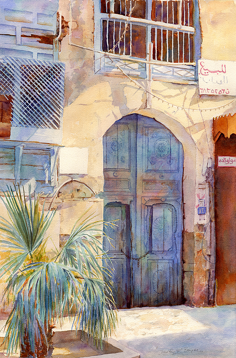 Architecture Painting -  Blue Door  by Dorothy Boyer