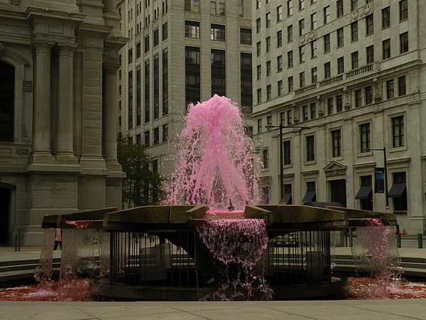 Fountain Photograph -  Breast Cancer Awareness. by PaTer Customs