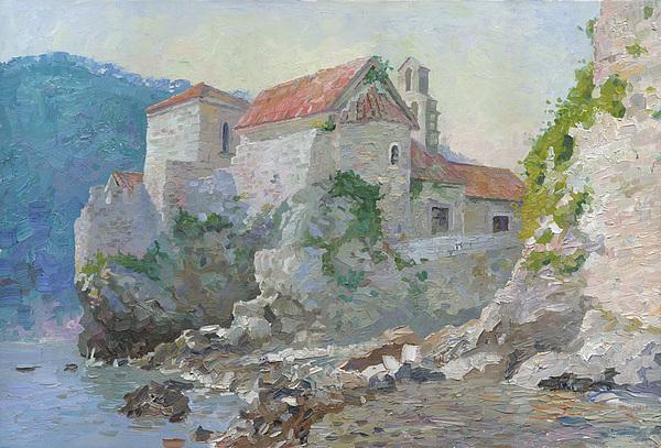 Church Painting -  Budva 2008  by Denis Chernov