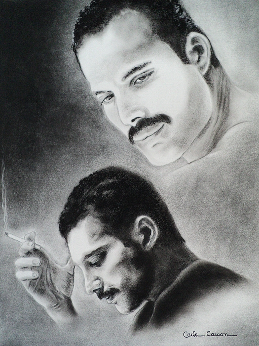 Queen Drawing -  Freddie Mercury Of Queen  by Carla Carson