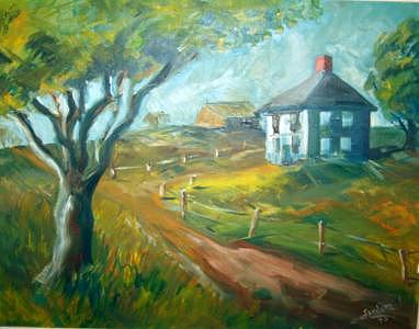 Gorham Farm Painting by Joseph Sandora Jr