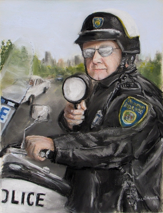 Police Painting -  Gotcha by Jack Skinner