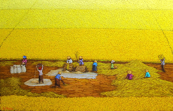 Harvest Painting -  Harvest 17 by Sri Martha