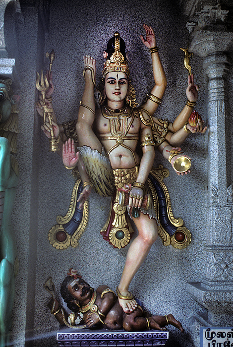 Hindu Photograph -  Hindu God Kali by Carl Purcell