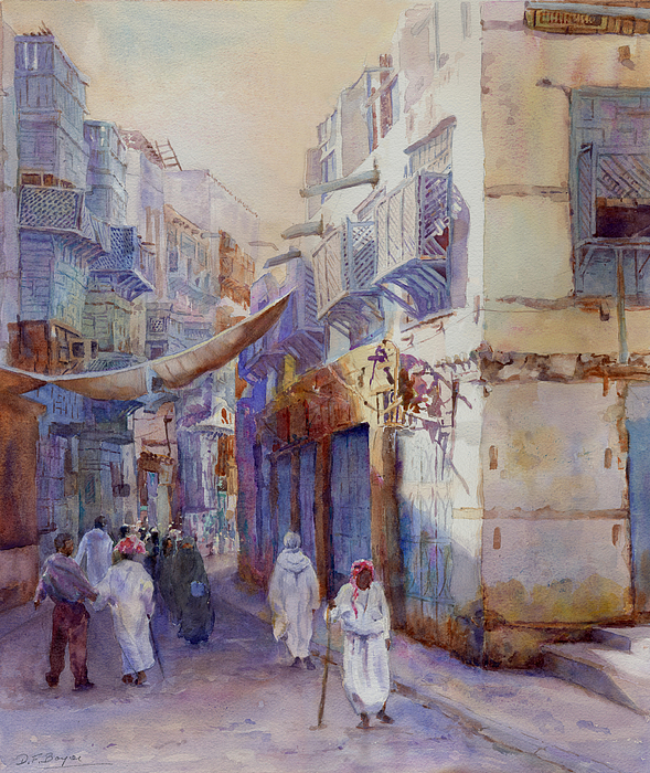 Architecture Painting -  Hurrying Home by Dorothy Boyer