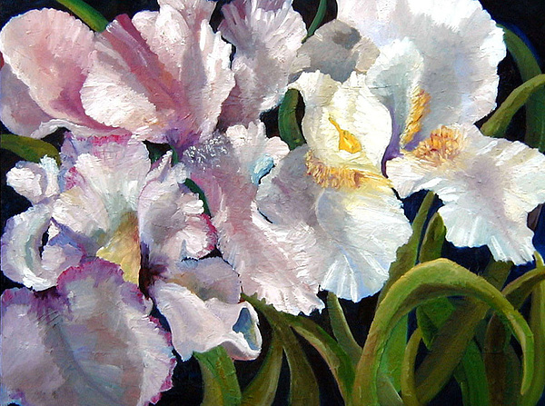 I Love Iris Painting by Marcy Silverstein