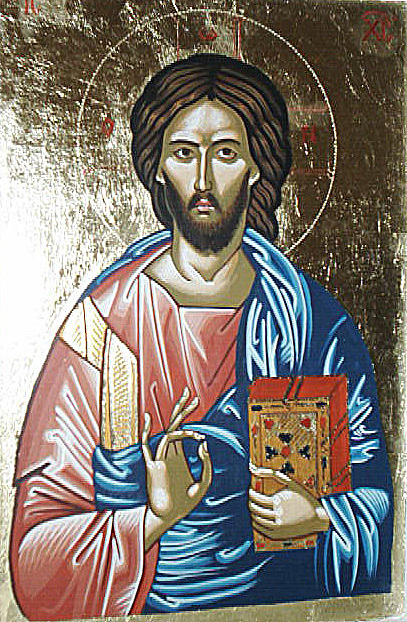Jesus Christ Ic Xc Painting by Prisecaru Radu