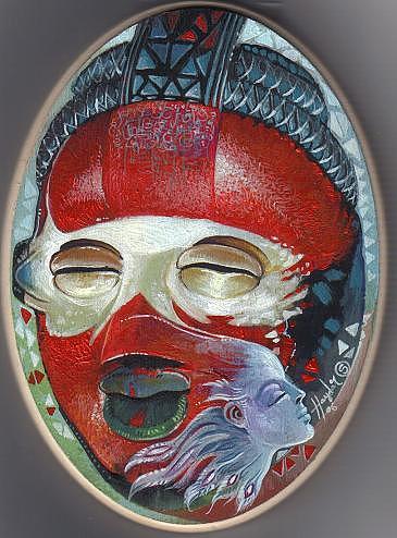 Sold Painting -   Mask Warmth  by Haydar Al-yasiry