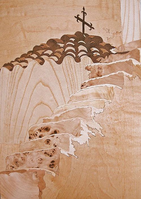 Marquetry Mixed Media - .. Memories On Santorini by Dusan Rakic
