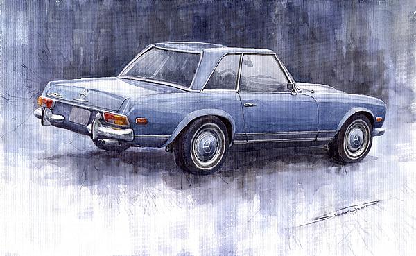 Auto Painting -  Mercedes Benz 280 Sl W113 Pagoda  by Yuriy  Shevchuk