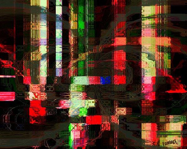 Fania Simon Painting -  Night Rain by Fania Simon