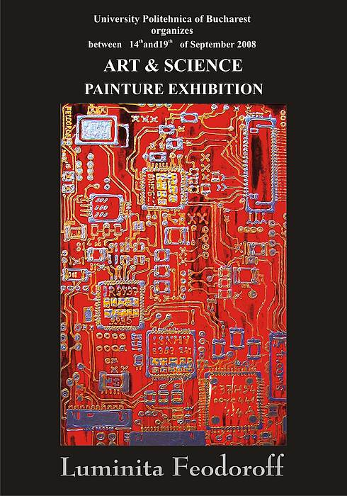 Poster Art Science Painting Exhibition Luminita Feodoroff