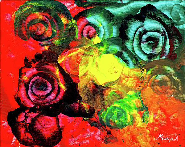 Painting Painting -  Roses 2 by Abu Artist