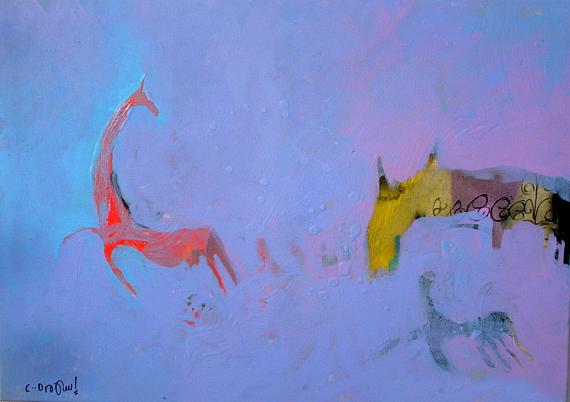 Abstract Mixed Media -  Runaway  by Islam Kamil