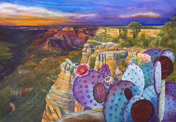Canyon Painting -  South Rim Wonders by Jany Schindler