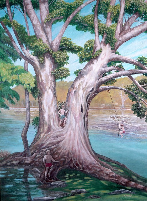 Trees Painting -  Sycamore On The Shenandoah River by Frances  Dillon