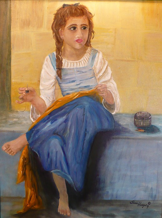 Eyes Painting -  The Girl That Loves To Sew  by Tina Haeger