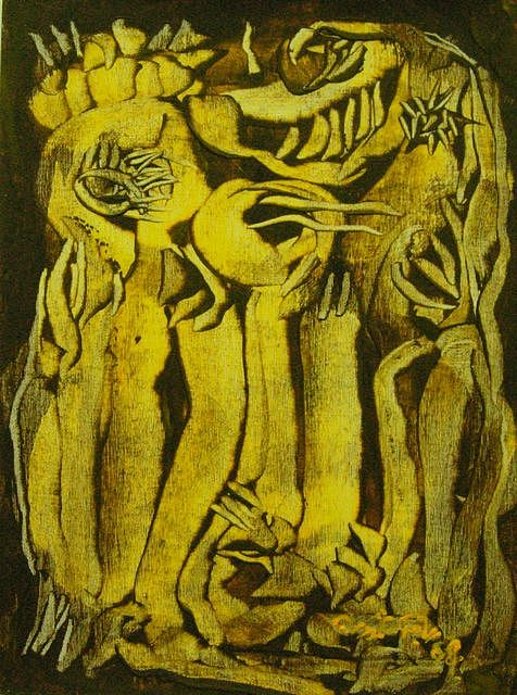 Thistle Painting by Riyad Hamdoon