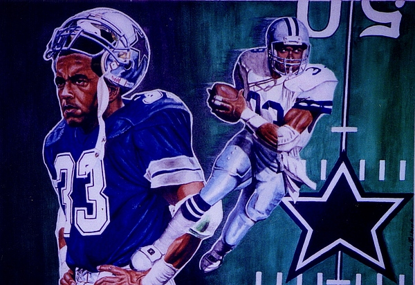 Sports Art. Painting -  Tony Dorsett by Darryl Matthews