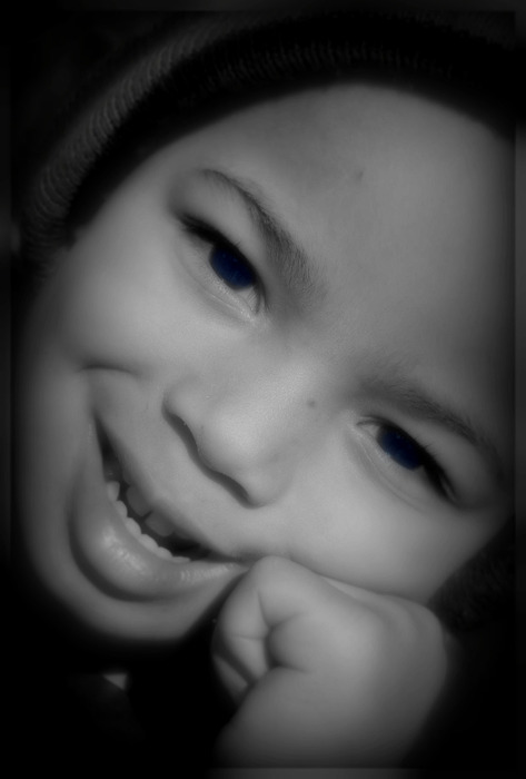 Portrait Photograph -  Touch Of Blue by Vanessa Reed