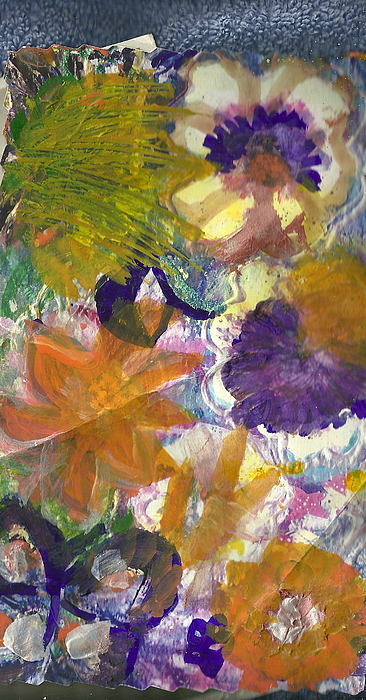 Flowers Painting -  Whimsical Floral by Anne-Elizabeth Whiteway