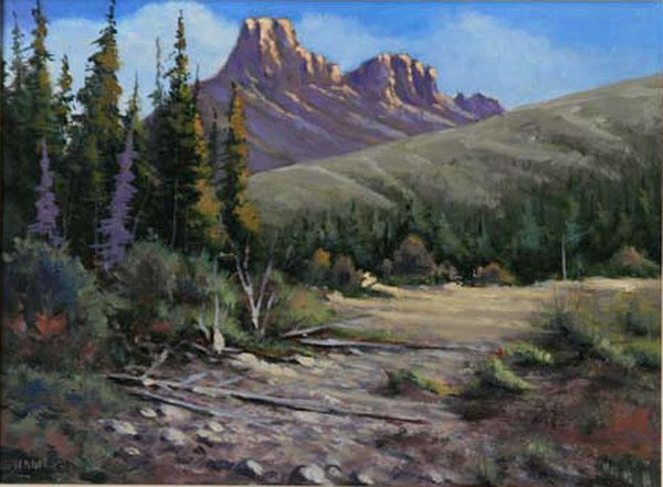 Landscape Painting - 040610-912 Horse Thief Creek by Kenneth Shanika