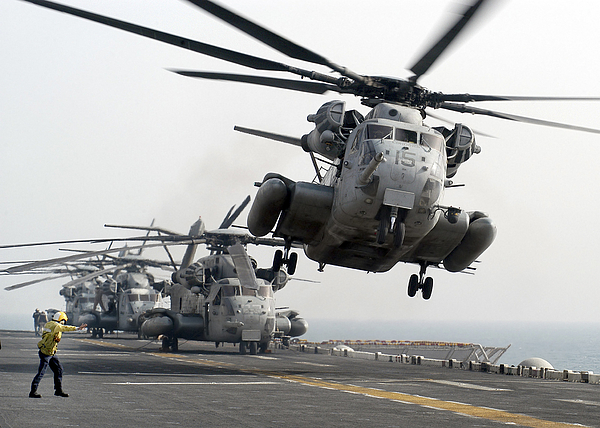Horizontal Photograph - A Ch-53e Super Stallion Lifts by Stocktrek Images