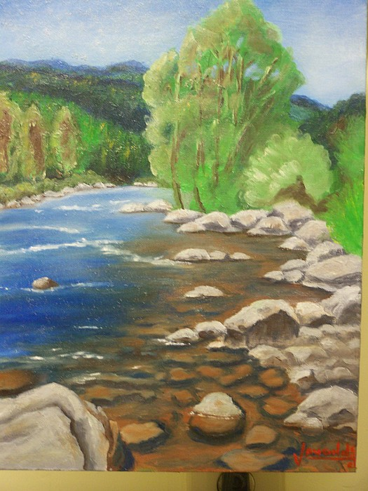 A River Runs Through It Painting by Charles Vaughn