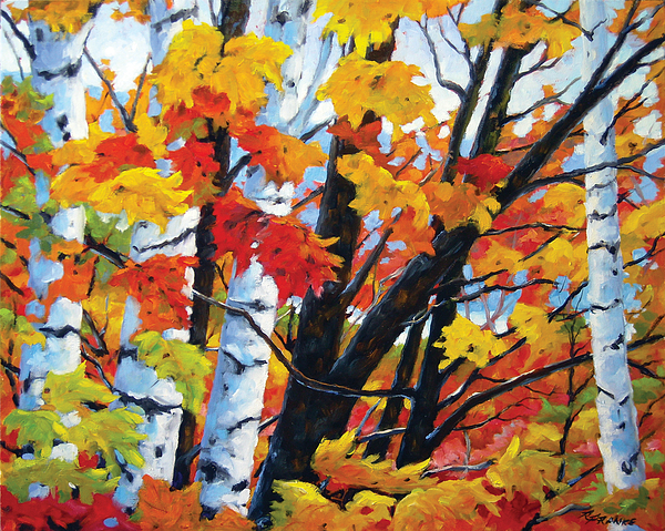 Painting Painting - A Touch Of Canada by Richard T Pranke