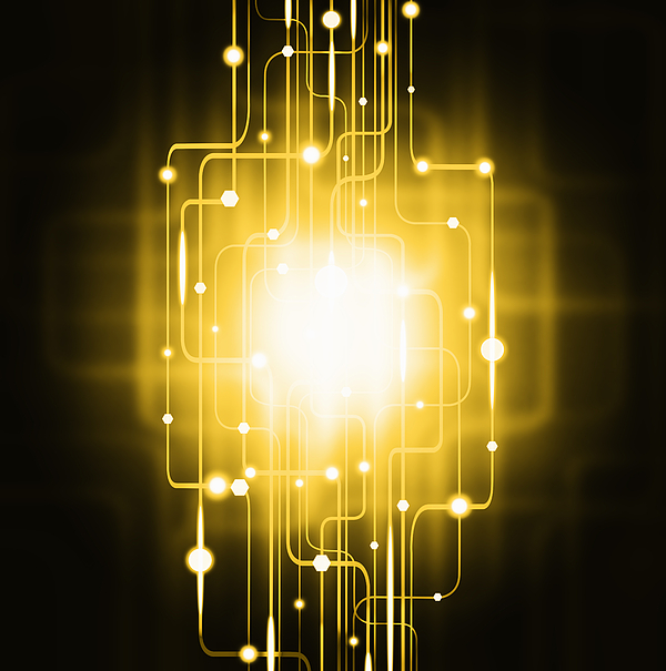 Abstract Photograph - Abstract Circuit Board Lighting Effect  by Setsiri Silapasuwanchai