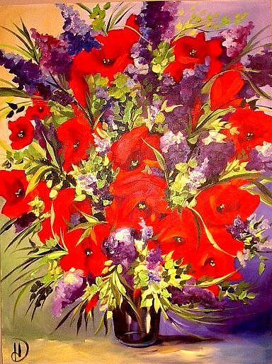 Floral Still Life Painting - Abundance by Heather Roddy