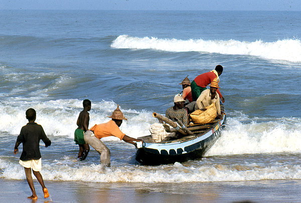 Erik Photograph - African Fishermen 1971 by Erik Falkensteen